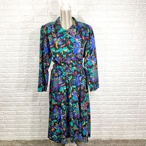 Vintage Carriage Court | Floral Belted Midi Dress
